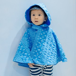 Double-sided cloak - Nordic ice flower hand made non-toxic jacket baby children's clothing