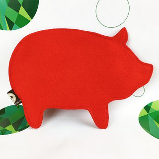 Oversized piggy red bag