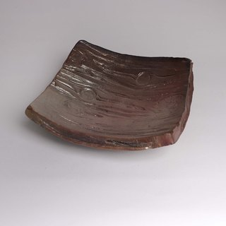 Chai burning stream Xin wood grain square plate