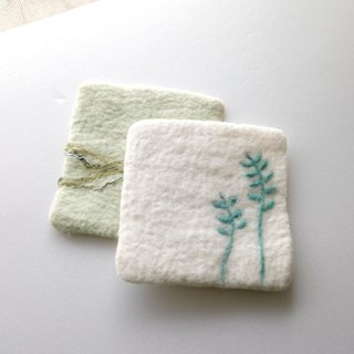 wool felt floral patterns coaster