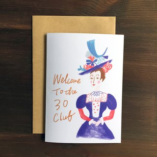30 for you! 30th Birthday Card - Welcome to the 30 Cub Welcome to the 30 Club Birthday Card with Envelope