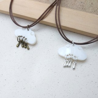 Wax line necklace cloud shell drop raindrop wax rope wax line necklace