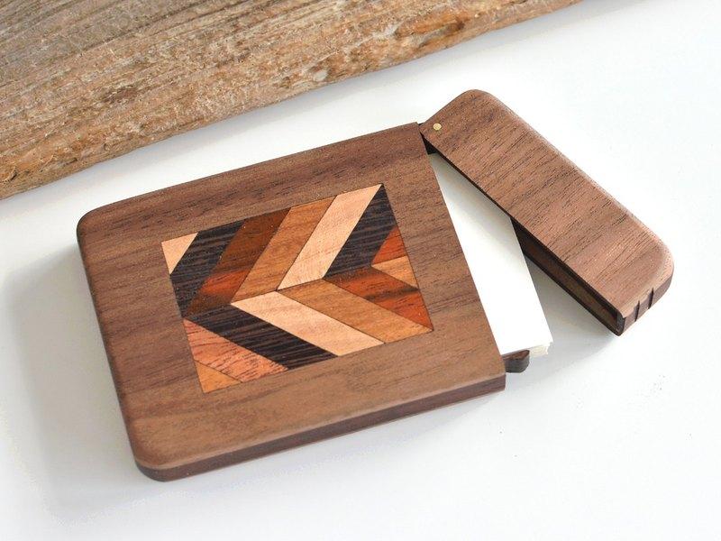 Wooden business card holder parquet work business card case wooden business card holder parquet work business card case walnut colourmoves