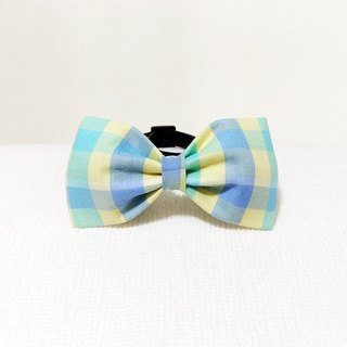 Ella Wang Design Bowtie Pet Bowknot Bow Cat Dog Check Latch Summer