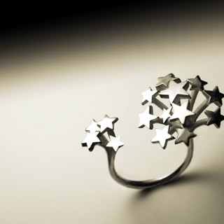 Starry silver ring