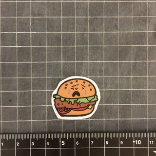 Melancholy hamburger sticker