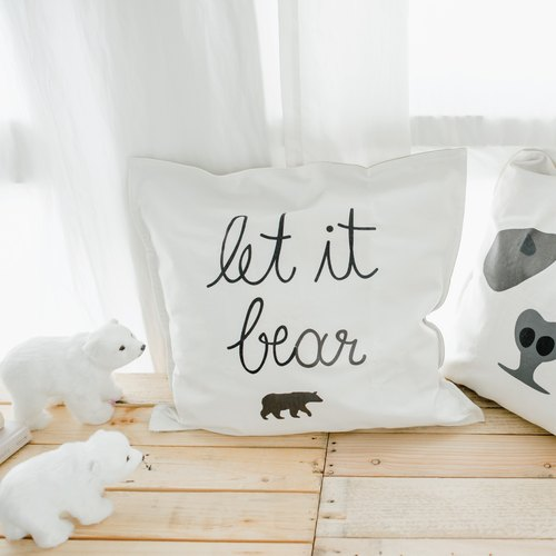 LET IT BEAR, Changeable Color Cushion-Cover