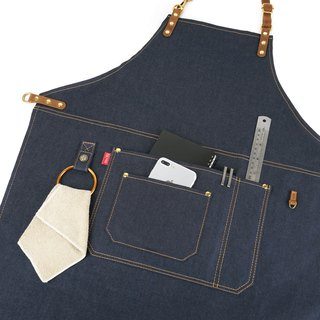 mi81 Working Apron with leather Ring hook