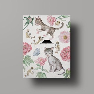 Auspicious Pattern Cat Illustration Postcard - 富贵耄耋/Hui Ran Paper Series