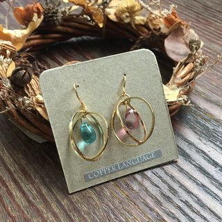 Earrings - Elegant Series / Two-Color Planet