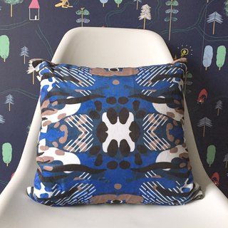 Navy blue camouflage pillow fluff pillowcase - with pillow
