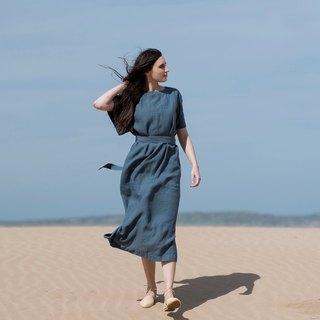 Linen Dress Motumo 16S11