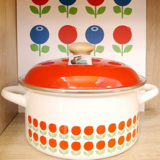 Nordic cute retro Floryd Blueberry Raspberry ears enamel pot