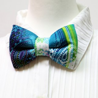 Supporting angle green handmade three-dimensional bow tie bow tie*SK*