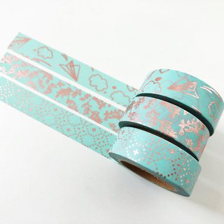 Set of 3 Rose Gold Foil Washi Tape