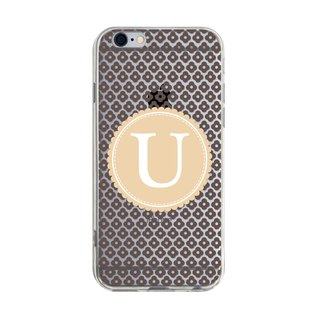 Letter U - iPhone X 8 7 6s Plus 5s Samsung S7 S8 S9 Phone Case