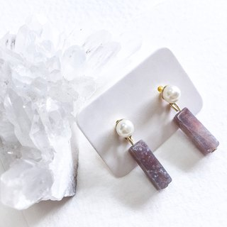 Romantic and elegant Purple Cubic column Agate Earring