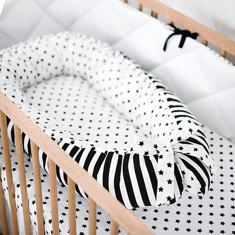 單色星星嬰兒窩-嬰兒睡床-新生兒依偎窩