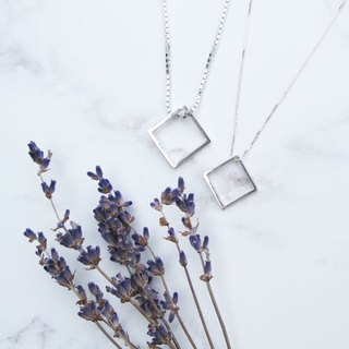 Big staff Taipa [handmade silver] geometric square × sterling silver necklace - men