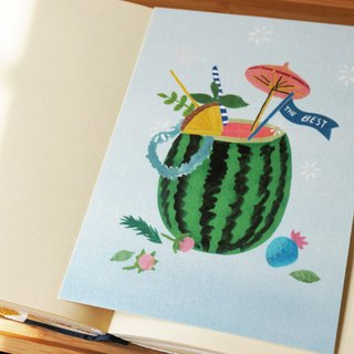 Summer watermelon watermelon postcard. card