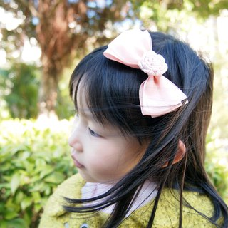 Hand-woven elegant pink butterflies with pink roses girl hair hoop BH079
