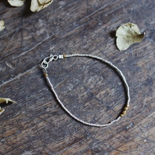 OMAKE sterling silver string brass single ring bracelet