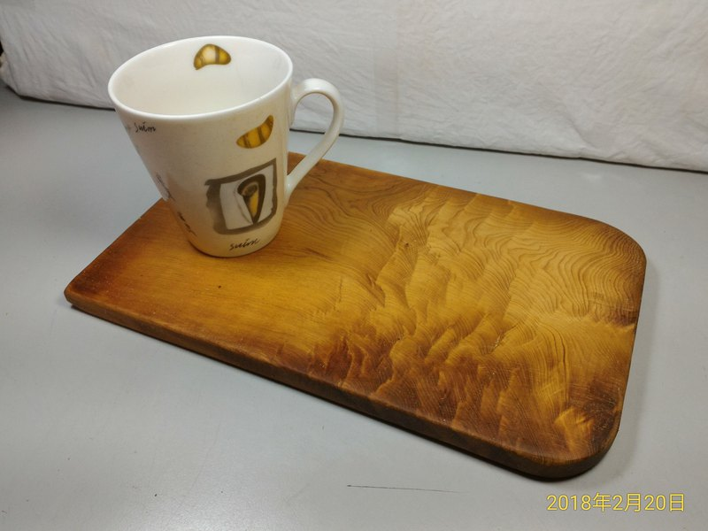 ~ Old material new work ~ Taiwan yellow wood cutting board pedestal (J)