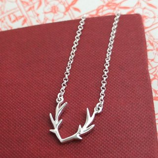 Antlers Silver Necklace