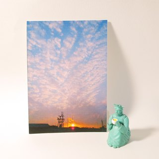Quietly draw cool card / multi-purpose storage postcard / second sunset