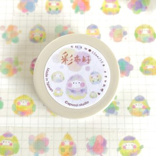 Colorful ink creature washi tape