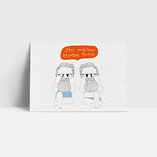 1102 | Stay away from negative people | Postcard | Funny
