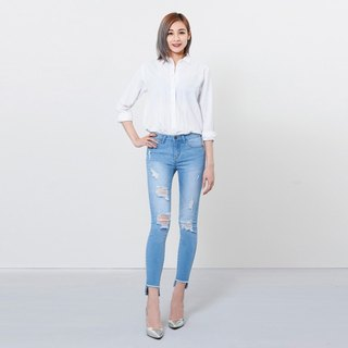 wbp-061-1 light blue stretch cut jeans