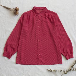 Twill dry red vintage long sleeve shirt