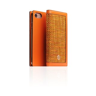 SLG Design iPhone 8 / 7 D5 CSL Canvas Blend Wind Side Leather Leather Case - Orange