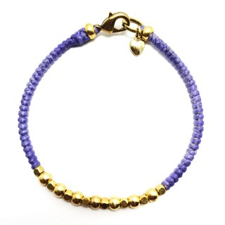 Purple little time. Simple series ◆ Sugar Nok ◆ wax line bracelet brass