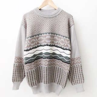 [Even] RE1229SW090 several He Gezi gray thin section male and female models loose vintage sweater neutral