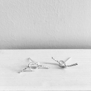 ▪ Knot Earring ▪ ▪ rope knot earrings sterling silver earrings ▪ Shanho Jewelry ▪
