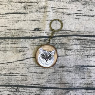 |cat|customized wood key ring 4-5 cm only ourhandhand order