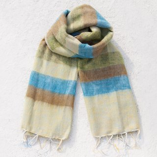Pure wool shawl / knit scarf / knitted shawl / blanket / pure wool scarf / wool shawl - mint