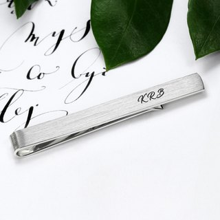 Engraved Tie Clip - Wedding Tie Clip monogram - Personalized Tie clip for groom