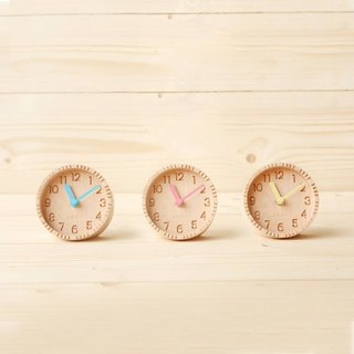 Colorful wood clock | Minimalist Handmade Clock – Desk Clock