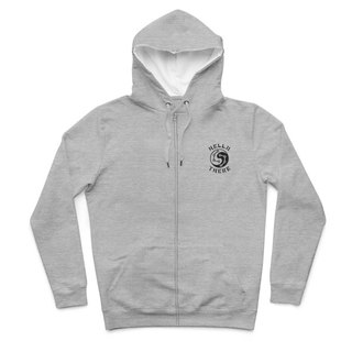 Taiji Dolphins - Deep Heather Grey - Hooded Zip Jacket