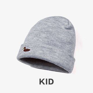 KIDS Duck Embroidered Cap Warming Cap:: Gray::