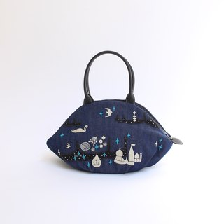 Prince Shiratori Embroidery - Almond Bag