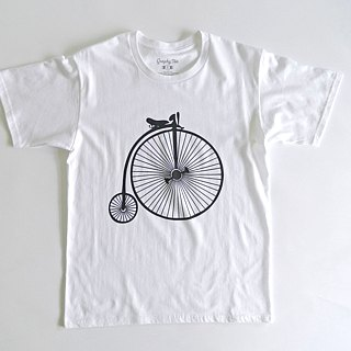 Old Bicycle-Men's T-shirt,Unisex Tee,White,Holiday Sale,Hand Printed,Couple Tee