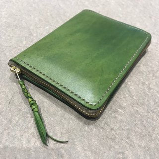 Handmade hand-dyed leather multiplex wallet