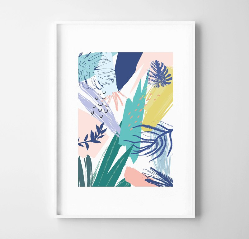 Colour Forest (3) Customizable painting poster