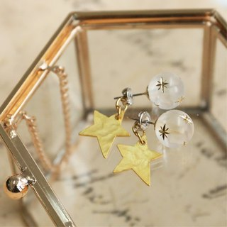 Japanese handmade ornaments - planet star earrings