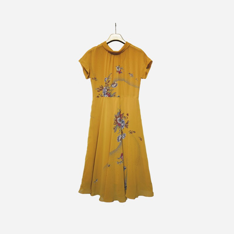 Dislocation vintage / flower folding dress no.1082 vintage
