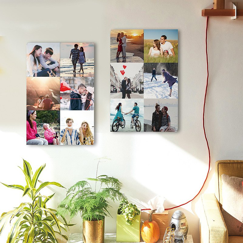 Customized photo frameless paintings